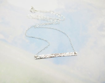 Sterling Silver Bar Necklace, Delicate Bar Necklace