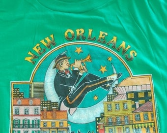 1983 New Orleans Birthplace of Jazz 50/50 Vintage T Shirt Large XL