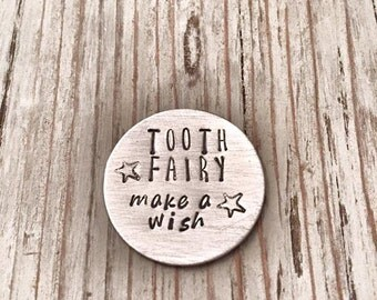 Tooth Fairy Wishing Coin. Tooth Fairy Visit. First Tooth Keepsake