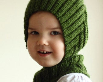 baby toddler balaclava hood knitted handmade warm soft hat with collar 0-6 6-12 12-24 months baby hat scarf cape pixie many colors available