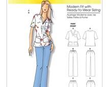 Butterick B5301 UNCUT Connie Crawford Misses'/Women's Scrubs Uniform *Sz 3 - 44W Sewing Pattern