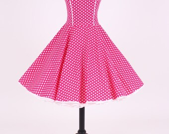 50s petticoat dress pink/white item: 5501