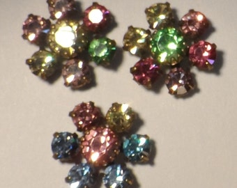 Swarovski crystal rhinestone cluster,11mm,asst. pastels, 3pcs-SZC43