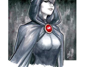 8 x 10 Raven Teen Titans Print