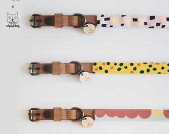 Sekkha x Ohpopdog / Hand-crafted Leather Collar in Natural Tan