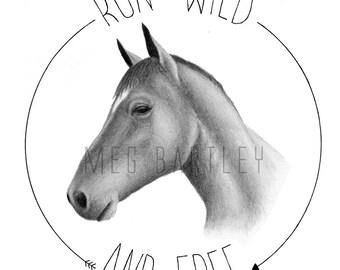 Run Wild - Art Print (A5)