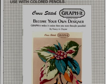 Graph-It Cross Stitch Graphing System Be Your Own Designer Kit Graph Nancy Claytor Graph It