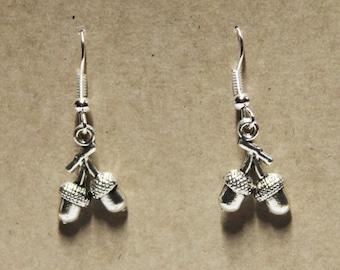 Earrings - Acorns - Woodland Magic