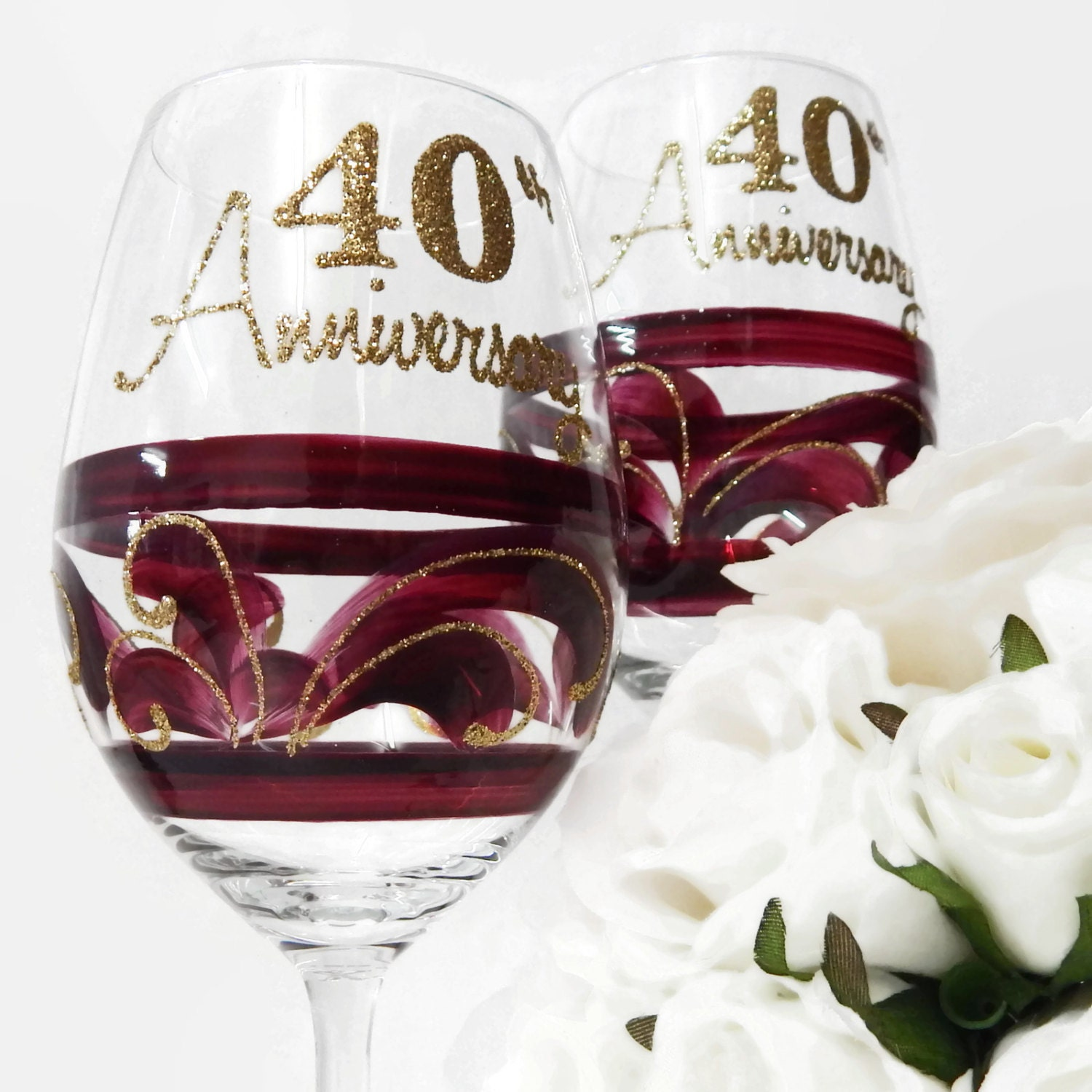 Ideas For 40th Wedding Anniversary Gifts: On Sale 40th Wedding Anniversary Gift By InaSpinNiquesWay