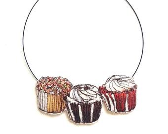 Cupcake Choker Necklace