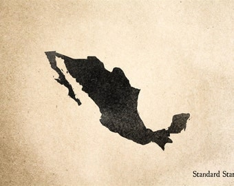 Mexico Rubber Stamp - 2 x 2 inches