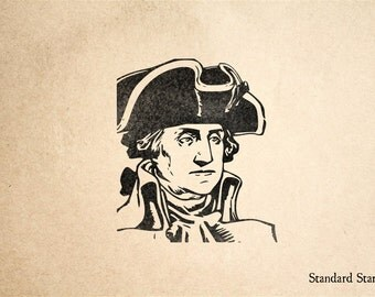 George Washington Rubber Stamp - 2 x 2 inches