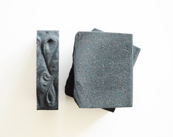 Eucalyptus Lavender Activated Bamboo Charcoal Soap, Essential Oil Soap, All Natural Soap, Cold Process Soap, Detox Soap, Handmade Soap Bar