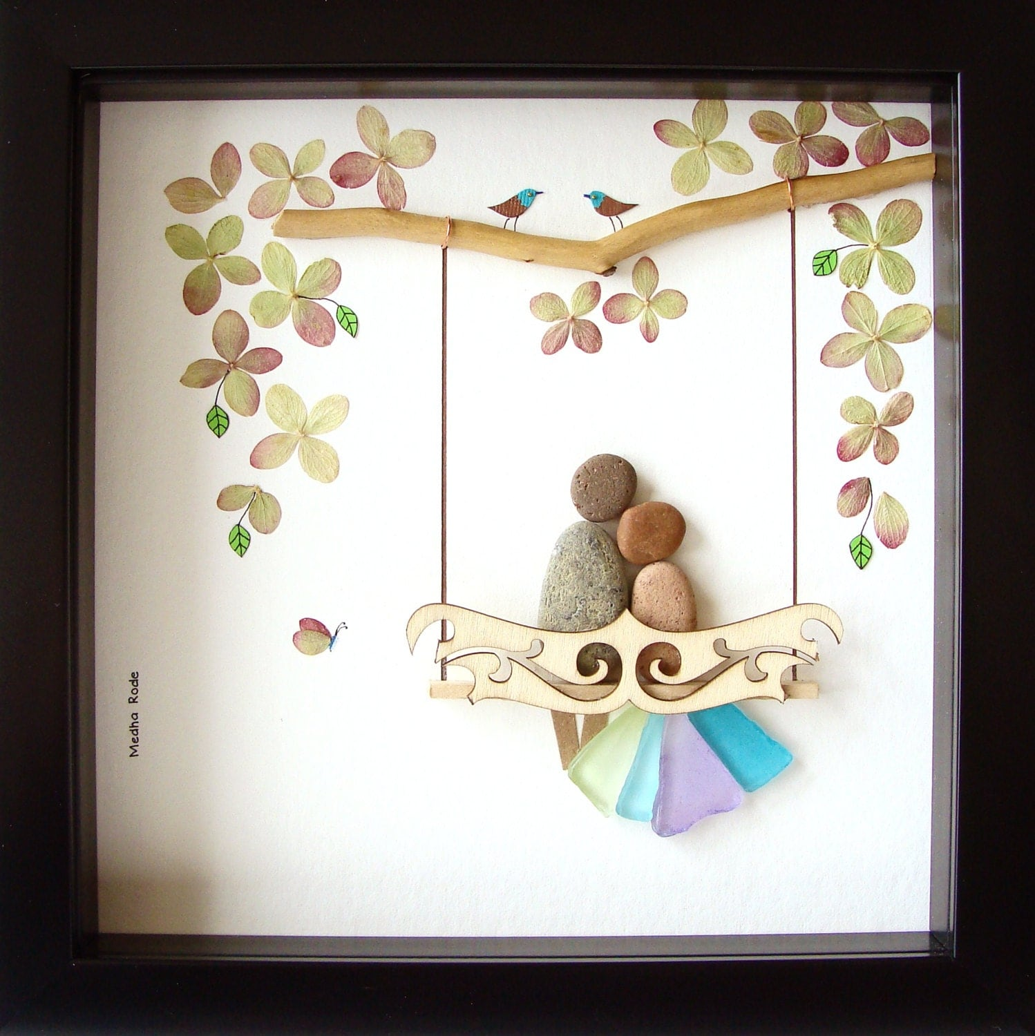 Wedding Gifts Unique Uk : Wedding Pebble Art Unique Wedding Gift For Couple Unique