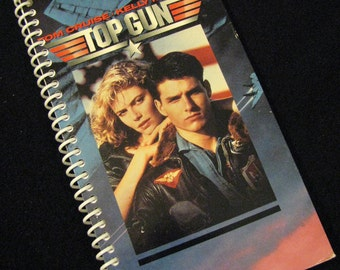 VHS SLEEVE REPURPOSED Lined Journal Notebook Sketch Book Diary - Upcycled From Vhs Tape Sleeve - Not A Licensed Product