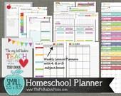 """Homeschool Planner {Printable} Set - Sized Small 5.5"""" x 8.5"""" PDF"""