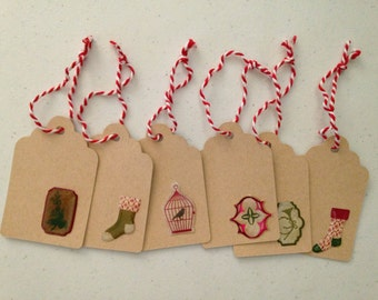 Holiday Gift Tags, Gift Tags Set of 6, WK121