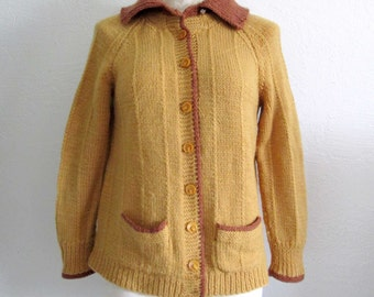 Vintage Handmade Button Up Cardigan Sweater