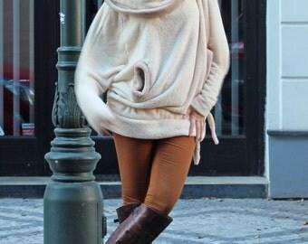 Plus Size Hoody Fleece Jacket