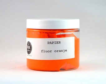 Screen printing ink paper, neon orange