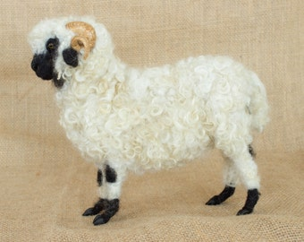 Made to Order Needle Felted Sheep: Custom needle felted animal sculpture