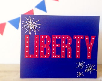4th of July Wood Sign- Fourth of July Wood Sign- 4th of July Decor- Red, White, and Blue- 4th of July Wood Decor- Liberty Sign- Americana