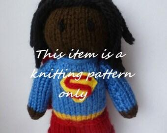 PDF knitting pattern: Supergirl