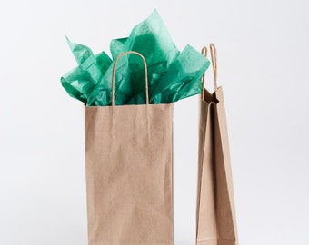 Wine Bottle Gift Bag - Kraft Brown