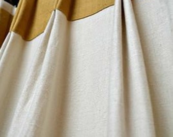 Double  Pinch Pleat 30'' Curtains /Linen and Burlap ribbon Drapes / Panels/ Living room panels / Handmade curtains