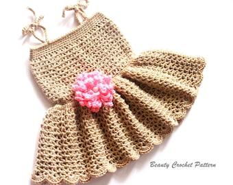 Crochet Dress Pattern Baby, Crochet Dress Pattern for Girls, Dress Pattern, Toddler Dress Pattern, Baby Dress Pattern, Flower Girl Dress