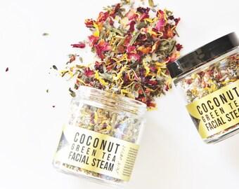 COCONUT GREEN TEA Facial Steam // Botanical Skin Detox