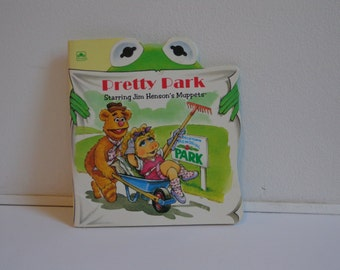 Pretty Park 90s Vintage Collectible Childrens Book with Jim Henson's Muppets Miss Piggy, Kermit the Frog, Fozzy Bear