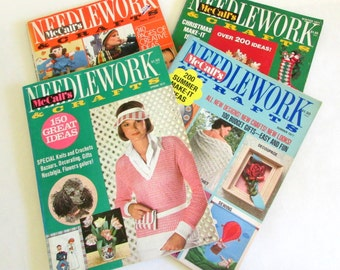 McCall's Needlework & Crafts Magazine -Vintage Craft Magazines - Knitting Magazines - Vintage Needlework Magazines - Craft Magazine Destash