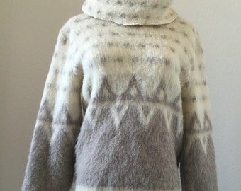 vintage 70's ICELANDIC WOOL SWEATER - small