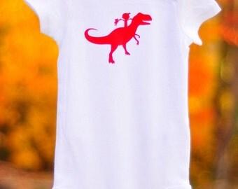 Boys' Dinosaur Bodysuit, Toddler dinosaur shirt, Whimsical shirt, Toddler gift