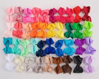 ONE DOLLAR EACH, Girls bows, 3 inch bow clips, hair bows, little girl bows, bow clips for girls, dollar bows, cheap bows, bow clips, toddler
