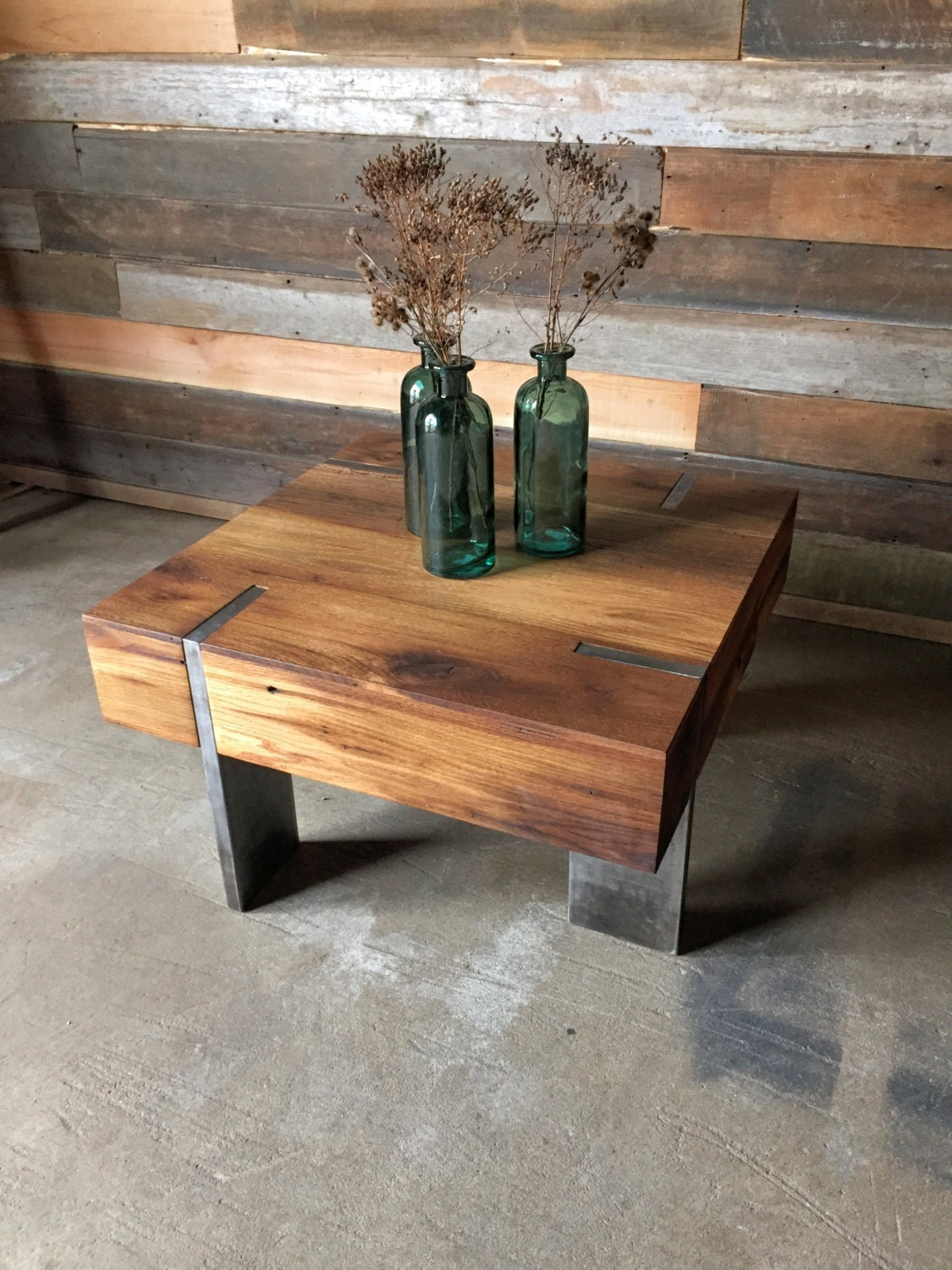 Small Modern Reclaimed Wood Coffee Table