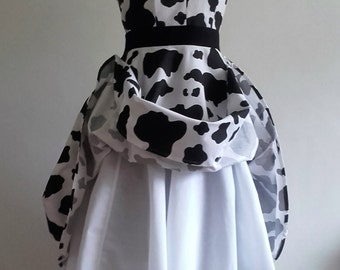 Cow Belle - Handsewn/Handmade Cowprint Full Circle Swing Dress Available to order in Custom Sizes & Lengths