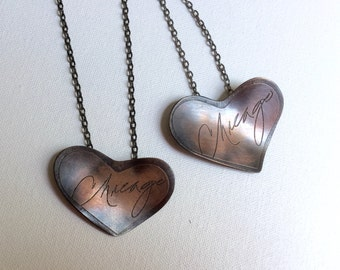 Chicago Script Heart