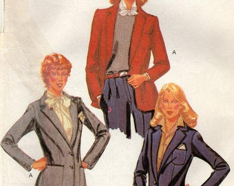 McCalls 7263 Sewing Pattern, Misses Jacket, Lined and Fitted, Size 12, Uncut Vintage Pattern, Palmer & Pletsch