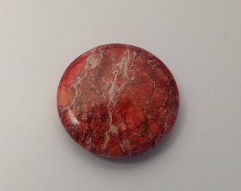 1 aqua terra jasper stone bead / 40mm #PP 221