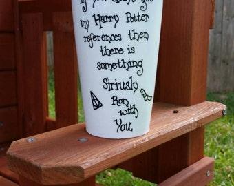 Harry Potter Mug, Harry Potter Travel Coffee Cup, Travel Coffee Cup with Lid, Harry Potter Cup
