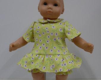 Bitty Baby Yellow Knit Dress and Panties
