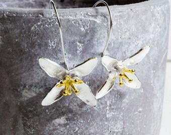 Flowers earrings - 925 Sterling Silver Edition