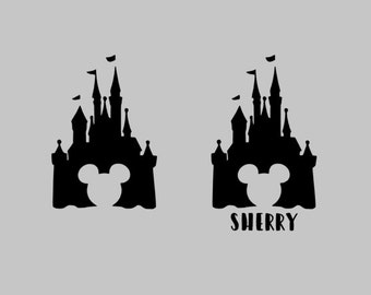 Castle with Mouse Ears Vinyl Decal | Disney Decal | Yeti Decal | Car Decal | Disney | Mickey |