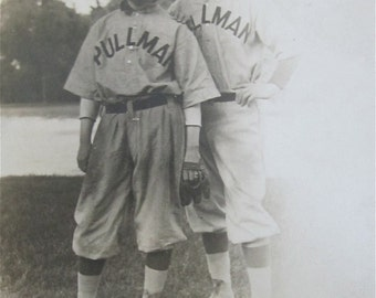 1910's Chicago Pullman Baseball Players Real Photo Postcard RPPC - Free Shipping