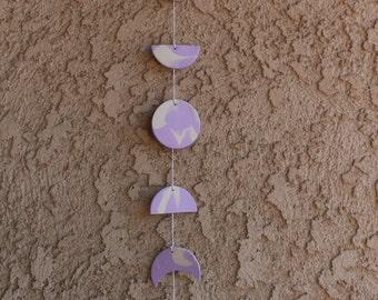 Lavender Moon Phase Wall Hanging (Boho Baby)