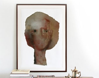 Large Abstract Art Print, Modern Wall Art, Abstract Painting Woman, Fine Art Print up to 42 x 60