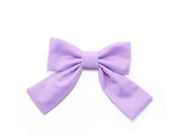 Lilac Purple Dog Bow Tie with Tail Girl Dog Bowtie Dog Collar Bow Cat Collar Bow