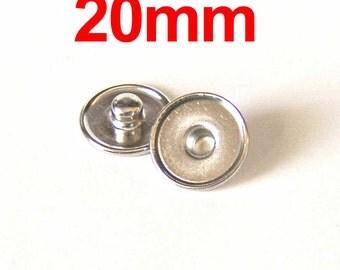 20mm Snap Charm Stud DIY 20 Count